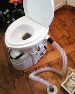 Using a Composting Toilet