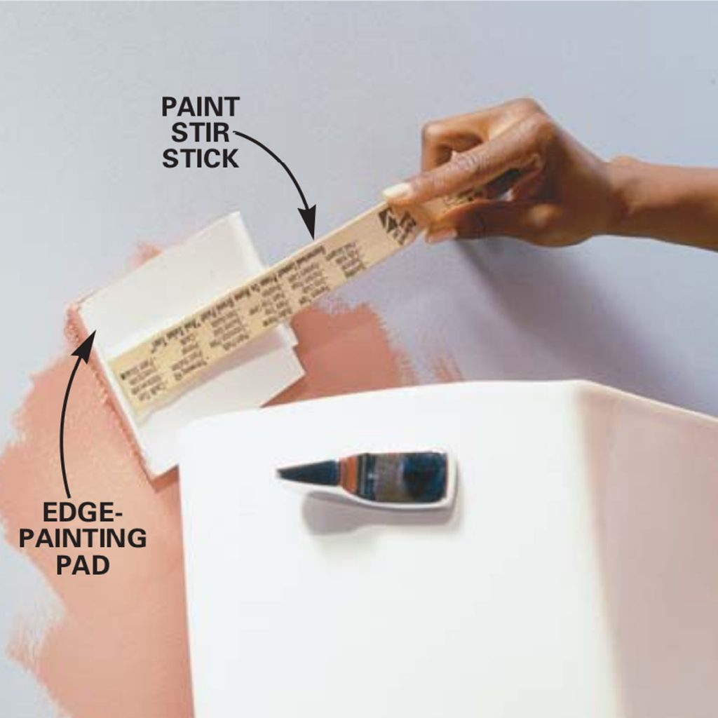 How To Paint Behind The Toilet (Without Even Removing the Tank)