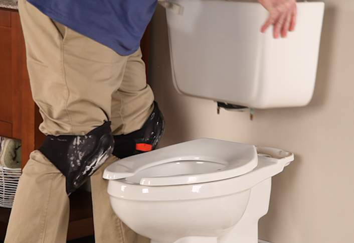 removing a toilet water tank