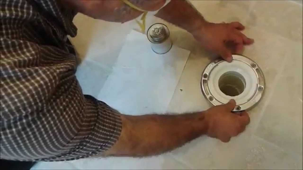 How To Install A Toilet Flange On Tile